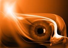 未来派背景的眼睛 库存图片