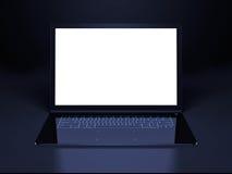 未来派膝上型计算机介绍 免版税库存图片