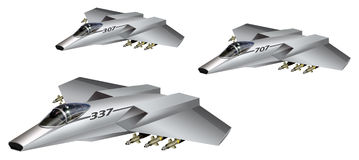 未来派航空器 免版税库存图片