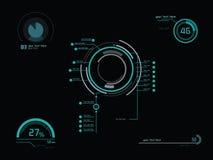 未来派绿色infographics 库存图片