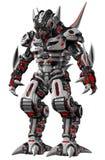 未来派装甲的外籍人战士 免版税库存图片