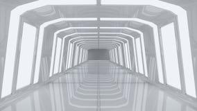未来派走廊内部 免版税库存图片