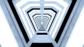 未来派走廊内部 库存照片