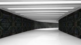 未来派走廊 免版税库存照片