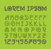 未来派铅印设计 装饰现代字母表 库存图片