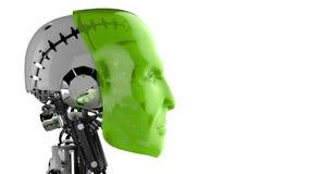 未来派靠机械装置维持生命的人 库存图片