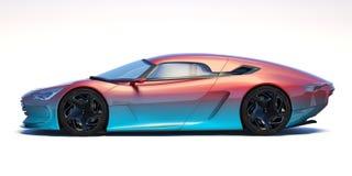 未来派3d概念汽车 免版税库存照片