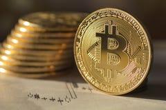 未来` s金钱Bitcoin -储蓄图象 库存照片