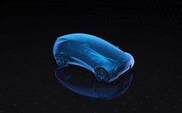 未来X-射线概念汽车 3d翻译 免版税库存照片