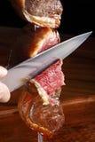 未煮熟的烤肉 免版税库存照片