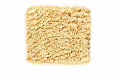 未煮过小麦面粉的方便面 免版税库存图片