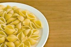 未煮过意大利面食的壳 免版税库存照片