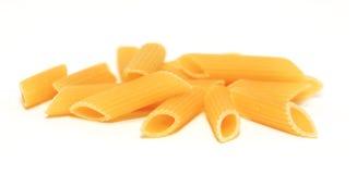 未煮过的意大利面食 免版税库存图片