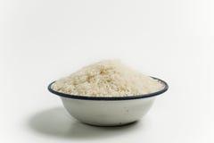 未煮过碗的米 免版税图库摄影