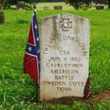 未玷污的南北战争坟墓--S 匹兹堡, TN 免版税图库摄影