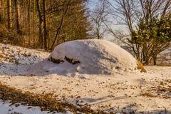 未玷污的埋葬冬天风景  库存图片