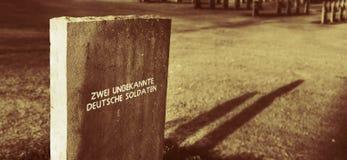 未知德国严重的战士 免版税库存图片