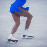 未知溜冰者竞争 免版税库存照片