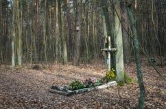 未知的人的坟茔 库存图片