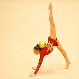 未知的体操运动员 免版税库存照片
