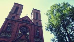 未知的教会在南波兰 库存图片