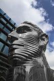 未知的ma抽象头在正方形的在布拉格 免版税图库摄影