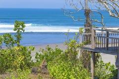 未触动过的沙滩 免版税库存照片