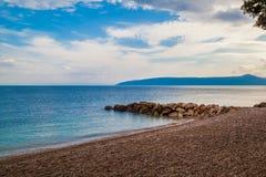未触动过的海滩在克罗地亚 库存图片