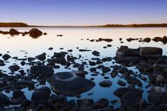 未触动过的自然在瑞典 图库摄影