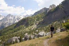 未触动过的阿尔巴尼亚阿尔卑斯 库存图片