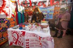 未认出的参加者在Durbar的世界艾滋病日摆正 库存图片