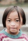 未认出的女孩画象Phu的Hin荣Kla 图库摄影