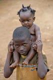 未认出的孩子,乌干达非洲 库存图片