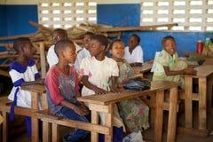 未认出的非洲孩子 免版税库存照片