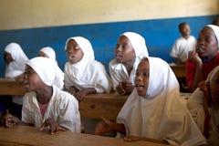 未认出的非洲孩子 库存图片