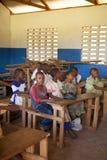 未认出的非洲孩子 免版税库存图片