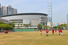 未认出的马来的足球运动员 图库摄影