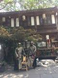 从未离开的人民在成都中锦丽  免版税库存照片