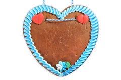 未贴标签的巴法力亚姜饼心脏 库存图片