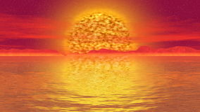 末日审判太阳风景无缝的圈录影 皇族释放例证