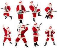 末端岩石圣诞老人 免版税库存照片
