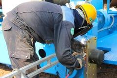 末端支架焊接 免版税图库摄影