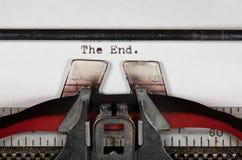 末端的宏观细节在电传打字机的有丝带的 免版税库存图片