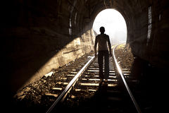 末端隧道 免版税库存图片