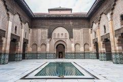 本・马拉喀什medersa摩洛哥yussef 库存图片