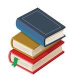 8本书颜色eps向量 皇族释放例证