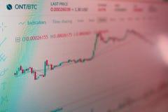本体论cryptocurrency贸易的应用接口 显示器的照片 cryptocurrencies的挥发性 向量例证