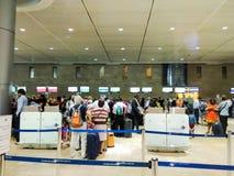 本古理安国际机场的离开大厅 chec 免版税图库摄影