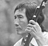湄公河音乐家 库存照片