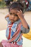 本地治里市国家,印度- 2014年6月15日 吉普赛阵营 免版税图库摄影